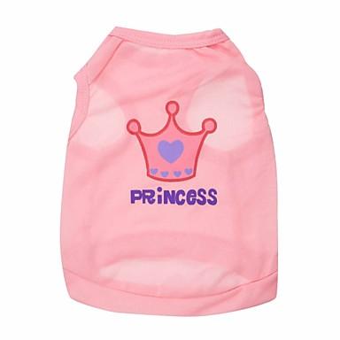 abordables Ropa para Perro-Gato Perro Camiseta Ropa para Perro Tiaras y Coronas Morado Rosa Rosa Terileno Disfraz Para Primavera & Otoño Verano Hombre Mujer Moda