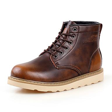Ανδρικά υποδήματα Μπότες Καθημερινά Δέρμα Μαύρο / Καφέ / Κόκκινο