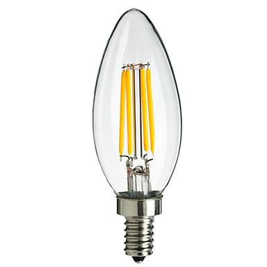 E14 LED filament žarulje CA35 4 Visokonaponski LED 400 lm Toplo bijelo Hladno bijelo Ukrasno AC 220-240 V 1 kom.