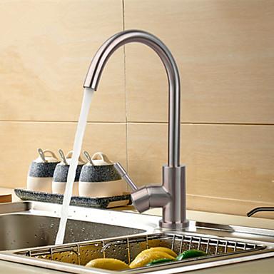 Kitchen Faucet - Nykyaikainen Harjattu nikkeli Bar / Prep Pöytäasennus
