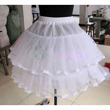 Wedding Special Occasion Daily Slips Tulle Netting Knee-Length Ball Gown Slip With Lace-trimmed bottom