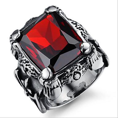 Gyűrűk Férfi Rubin Volfrám acél Volfrám acél 7 / 9 Fekete A díszítés színe a képen látható.