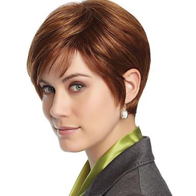 nouvelle dame de la mode populaire fil à haute température courte perruque brune peut être très chaud peut être teint image couleur