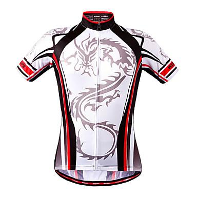 WOSAWE Kurzarm Fahrradtrikot - Schwarz-rot Fahhrad Trikot / Radtrikot, Rasche Trocknung, Sommer, Polyester