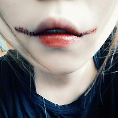 5pcs halloween zombie wound scar stitch waterproof for Halloween makeup tattoos