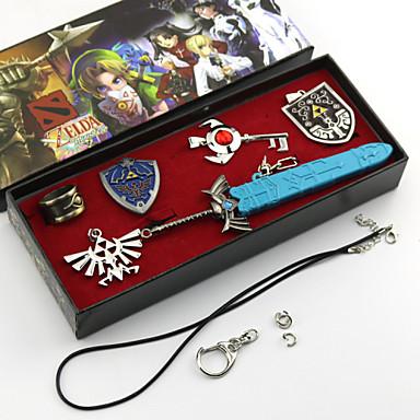 Jóias Inspirado por The Legend of Zelda Fantasias Anime/Games Acessórios de Cosplay Colares / Broche Prateado Liga Masculino