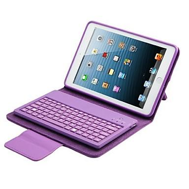 Pouzdro Uyumluluk iPad Air 2 Satandlı Oto Uyu / Uyan Manyetik Tam Kaplama Kılıf Tek Renk PU Deri için iPad Air 2