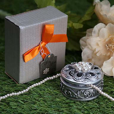 Reçine / Kauçuk Pratik Şekerleri-1 Çay Partisi Hediyeleri Klasik Tema Gümüş 6*6*3cm İnci