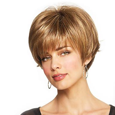 Emberi hajszelet nélküli parókák Emberi haj Egyenes Sapka nélküli Paróka