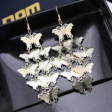 Naisten Pisarakorvakorut Personoitu Metalliseos Animal Shape Butterfly Korut Varten 2pcs