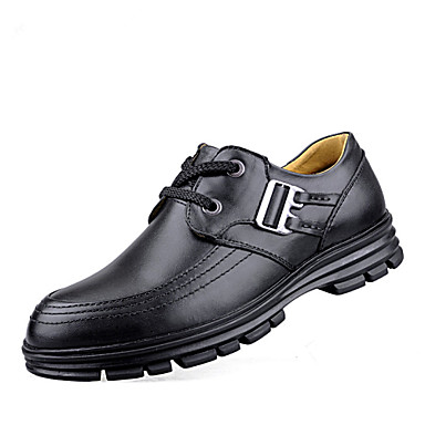 Bigs Size 38-45 Warm Men's Shoes Outdoor / Office & Career / Athletic / Casual Leather / Suede Oxfords Black / Brown