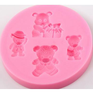 Dog Bear Pattern Christmas Diy Bear Cake Mould Bakeware Tools