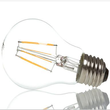 E26/E27 LED-glødepærer A60(A19) 4 leds Høyeffekts-LED Dekorativ Varm hvit Kjølig hvit 3000/6500lm 3000K/6500KK AC 220-240V