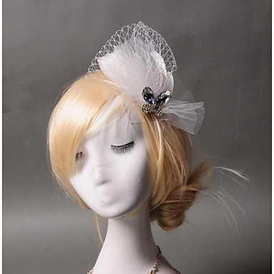 Tulle Feather Fascinators Headpiece Classical Feminine Style