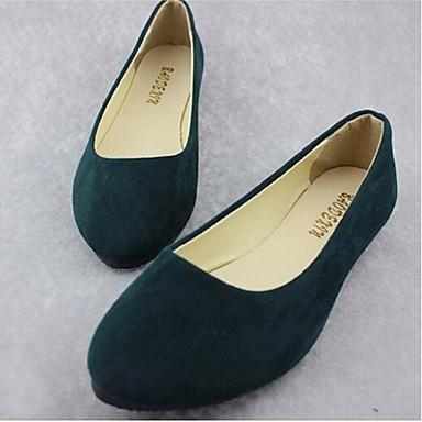 Черный / Зеленый / Серый / Светло-коричневый / Оранжевый / Бордовый - Женская обувь - На каждый день - Дерматин - На плоской подошве -С