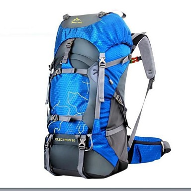 1534d2072984 60 L Hiking Backpack Rucksack - Waterproof Rain Waterproof Moistureproof Outdoor  Camping   Hiking Hunting Climbing Oxford Green Blue Dark Green 4395558 2019  ...