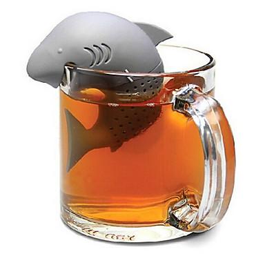 Silikon Kreativ Kjøkken Gadget / Te Shark 1pc Filre / Tesil