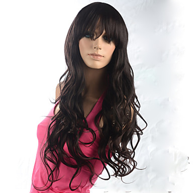 Synthetic Wig Wavy Brown Women's Capless Carnival Wig Halloween Wig Synthetic Hair