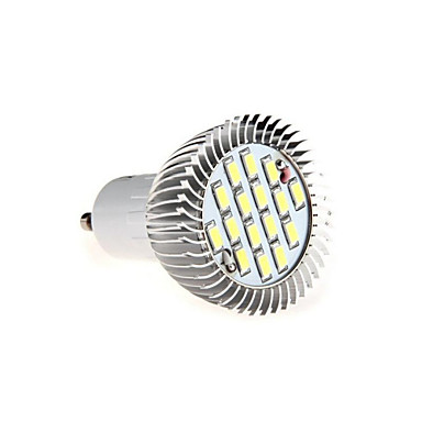 GU10 LED Spotlight MR16 16 SMD 5630 650lm Warm White Cold White 3000K/6500K Decorative AC 85-265V