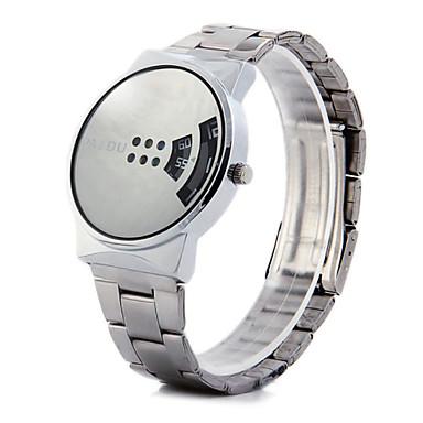 Men's Wrist watch Quartz Hot Sale Alloy Band Charm Silver