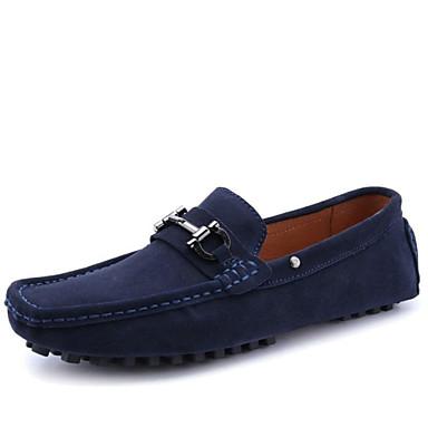 בגדי ריקוד גברים / יוניסקס מוקסין עור נאפה Leather אביב / סתיו נוחות נעליים ללא שרוכים כחול כהה / מסיבה וערב