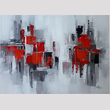 Pintados à mão Fantasia Quadrangular,Moderno 1 Painel Tela Pintura a Óleo For Decoração para casa