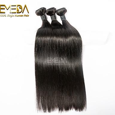 Cabelo Humano Ondulado Clássico Reto Extensões de cabelo 3 Peças Cabelo Brasileiro Tramas de cabelo humano 0.3kgDiário Alta qualidade