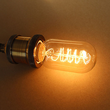 1pc 25W E27 E26/E27 T45 Sıcak Beyaz K Incandescent Vintage Edison Ampul AC 110-130V AC 220-240V AC 85-265V V
