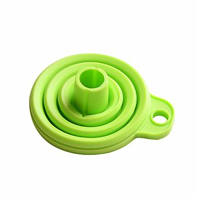 katlanabilir silikon huni kaliteli mutfak aygıtı her gün kullanıyor (rasgele renk)