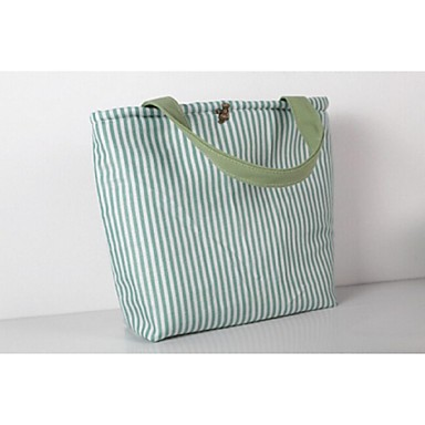 Women Bags Canvas Tote for Casual All Seasons Deep Green Light Green