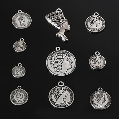 Amuletit / Riipukset Metalli Round Shape kuvana 3-18pcs
