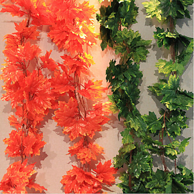 1 Branch Polyester Plants Wall Flower Artificial Flowers