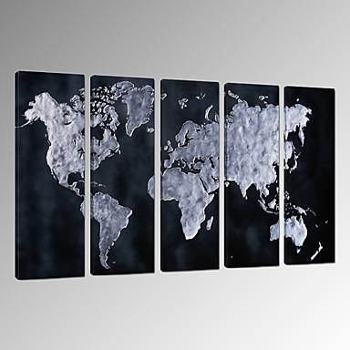 Soyut Manzara Fantezi Serbest Fotografik Vatansever Modern Romantik Haritalar Pop Art Seyahat Beş Panelli Dikey Duvar Dekor For Ev