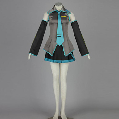 Inspired by Vocaloid Hatsune Miku Anime Cosplay Costumes Cosplay Suits Patchwork Blouse / Skirt / Sleeves For Men's / Women's
