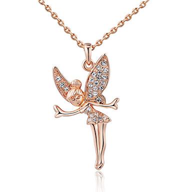 Damen Kristall Anhängerketten - Diamantimitate Engelsflügel Silber, Rotgold Modische Halsketten Schmuck Für