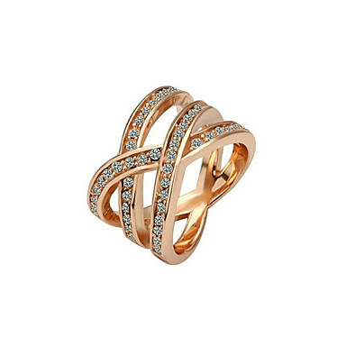 Ring - Stylish, Classic 6 / 7 / 8 Gold / Silver For Wedding / Party / Party / Evening