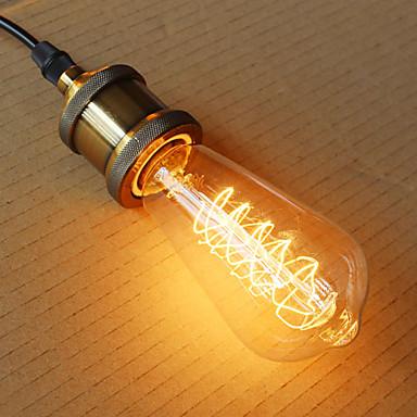 1pç 40W E26/E27 ST64 2300 K Incandescente Vintage Edison Light Bulb AC 220V AC 220-240V V