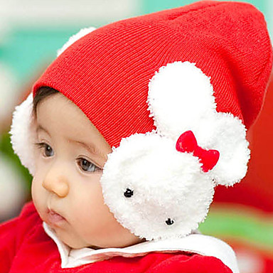 Girls' Boys' Hats & Caps, Winter Nylon Others Knitwear Headbands - Black Yellow Fuchsia Red Pink