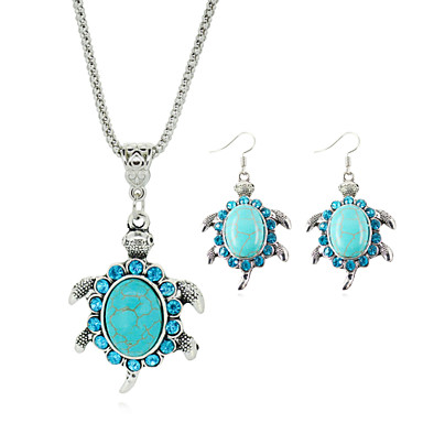Crystal Beads Jewelry Set - Turquoise Cute Include Blue For Party / Birthday / Engagement / Earrings / Necklace