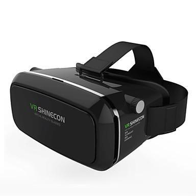 shinecon virtuell virkelighet 3d briller papp 2.0 vr hodesett (svart farge)
