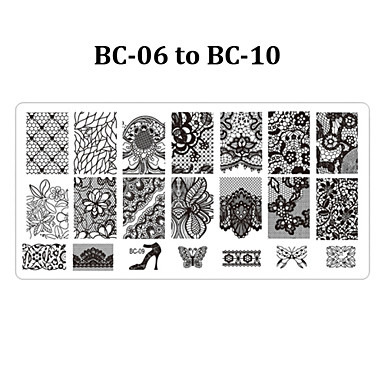plates in hair style 5pcs bc nail stamp stamping plate 6 12cm nail template 6667