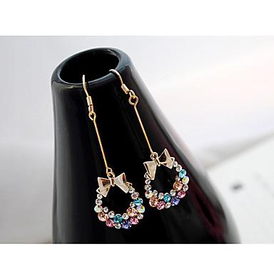 Stud Earrings Drop Earrings Crystal Rhinestone Alloy Rainbow Jewelry Party Daily Casual 2pcs