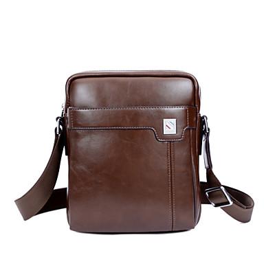 Erkek Çantalar PU Omuz çantası için Günlük / Resmi / Ofis ve Kariyer Tüm Mevsimler Kahverengi