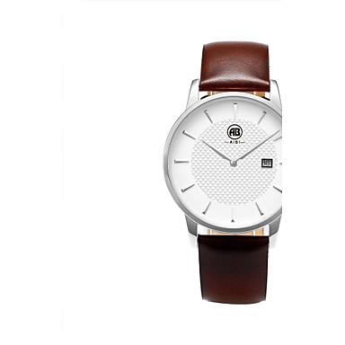 Masculino Relógio de Pulso Quartz Calendário / Impermeável Couro Banda Marrom marca