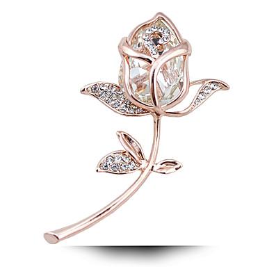 Kadın's Broşlar Kristal Kristal alaşım Mücevher Uyumluluk Düğün Parti Doğumgünü Nişan Hediye Günlük