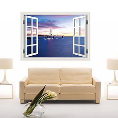 정물화 / 풍경 / 판타지 / 3D 벽 스티커 3D 월 스티커,PVC 60*90CM