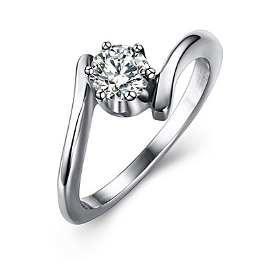 Women's Statement Ring Fashion Titanium Steel Costume Jewelry Wedding Party Daily Casual
