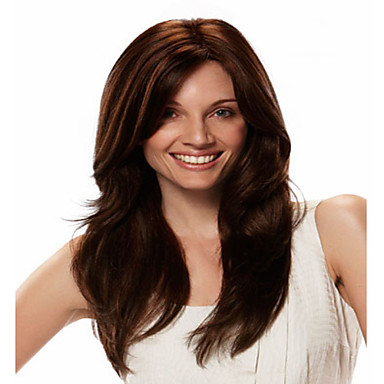 European Lady Women Wig Syntheic Wave Wig Extensions Beautiful Color Is Deep Brown