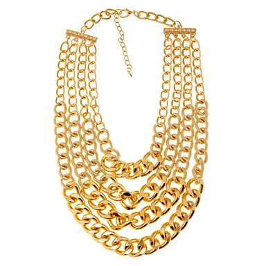 Jewelry Chain Necklaces Party / Daily / Casual Alloy 1pc Women Wedding Gifts