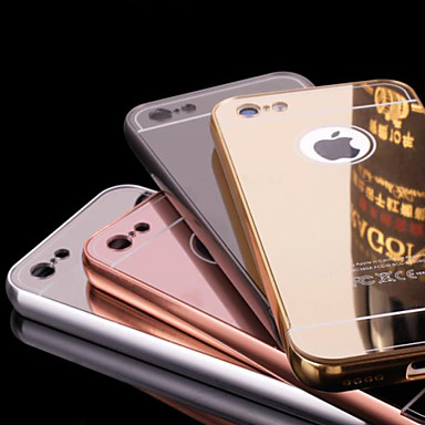 Case For Apple iPhone 6 iPhone 6 Plus Plating Mirror Back Cover Solid Color Hard Metal for iPhone 6s Plus iPhone 6s iPhone 6 Plus iPhone 6